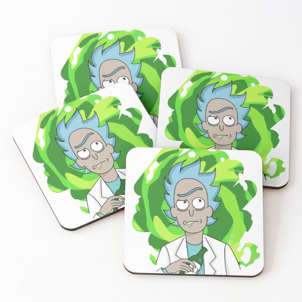 3rd Drink Rick Coasters (Set of 4)