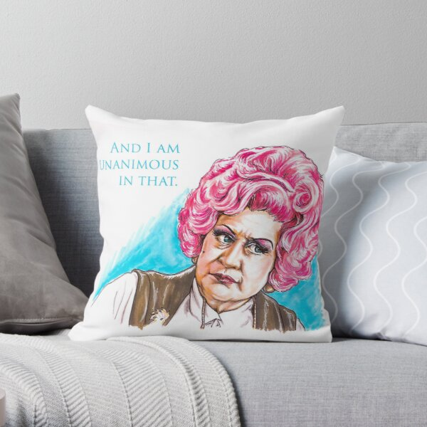 Mrs. Slocombe - AYBS? - And I am Unanimous in That Throw Pillow