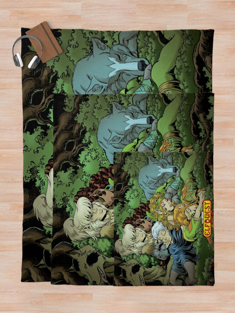 Alternate view of Elfquest: True Peace II Throw Blanket