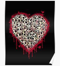Skull Heart Poster