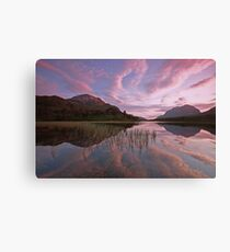 torridon reflections in the western highlands. Canvas Print