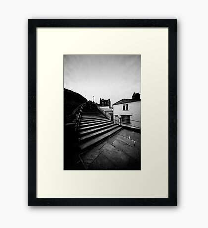 Whitby Steps Framed Print