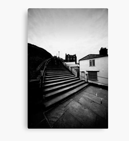 Whitby Steps Canvas Print