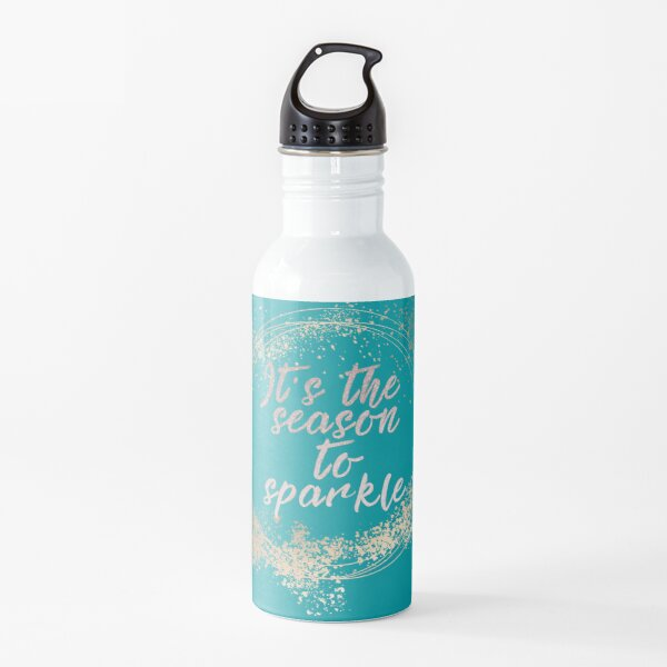 Beach House Christmas Holiday Decor Water Bottle