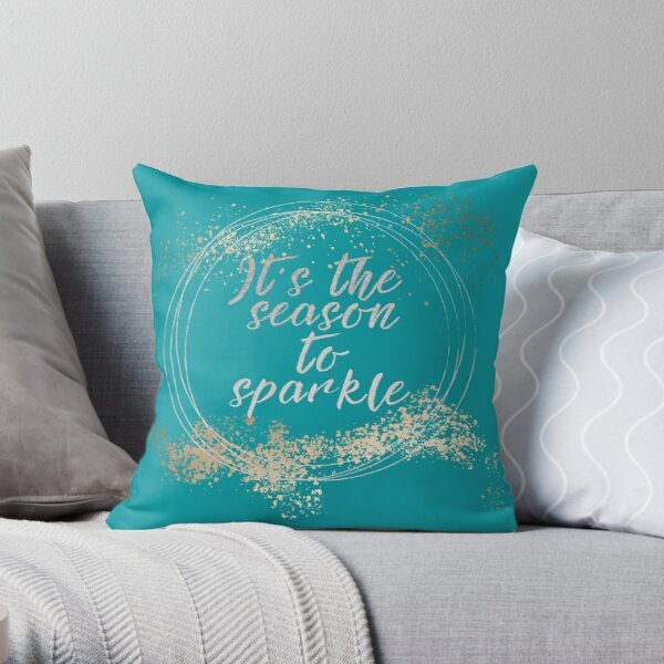 Beach House Christmas Holiday Decor Throw Pillow