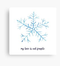 My love is not fragile Metal Print
