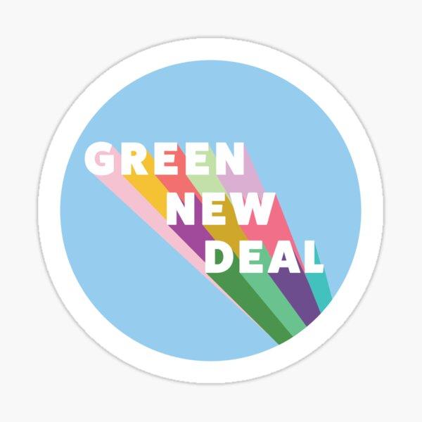 Blue Green New Deal Sticker Sticker