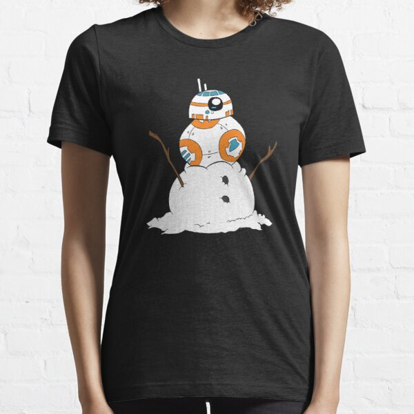 Snowman - robot on snowman Essential T-Shirt
