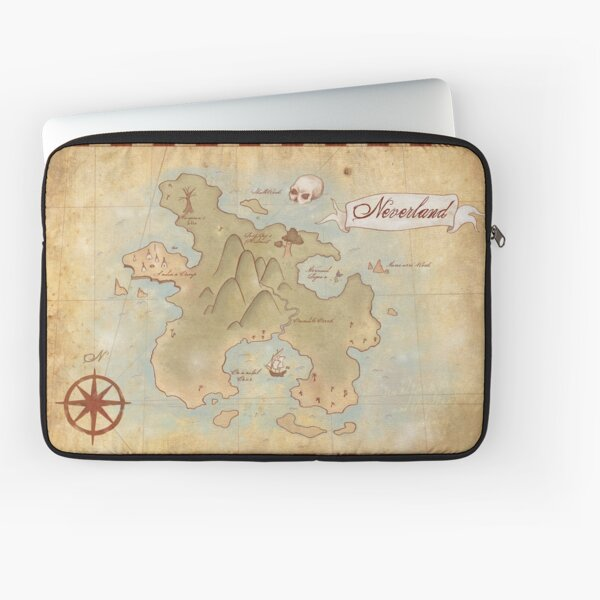 Map of Neverland Laptop Sleeve