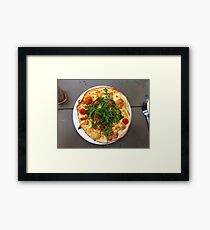 Pizza Bruschetta Framed Print