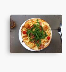 Pizza Bruschetta Canvas Print