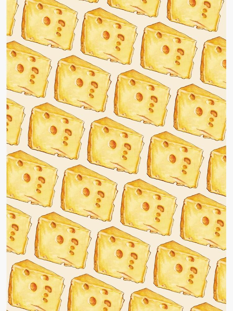 Cheese Pattern - White by KellyGilleran