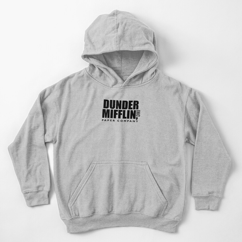 The Dunder Office Mifflin Inc. Design, T-Shirt, tshirt, tee, jersey, poster, Original Funny Gift Idea, Dwight Best Quote From Kids Pullover Hoodie