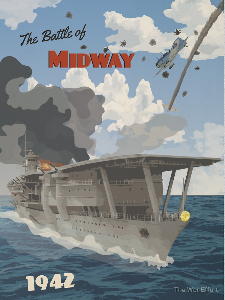 Midway 1942 - Carrier Strike Travel Poster by Grayhanch