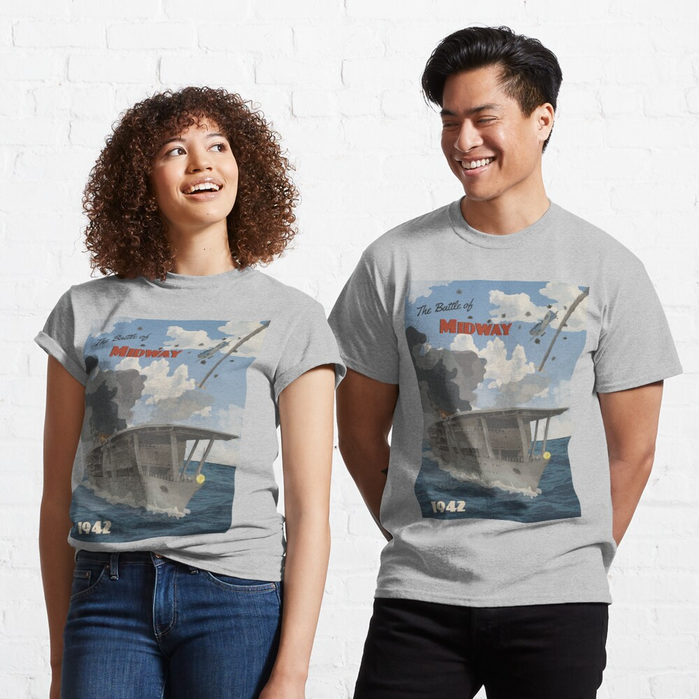 Midway 1942 - Carrier Strike Travel Poster Classic T-Shirt