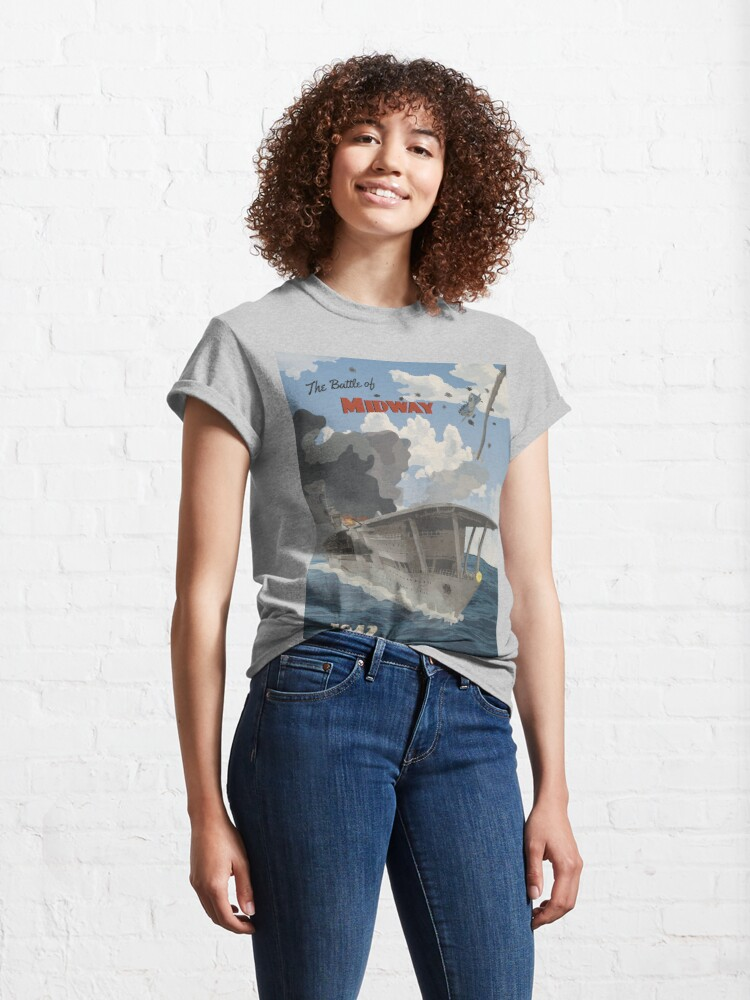 Alternate view of Midway 1942 - Carrier Strike Travel Poster Classic T-Shirt