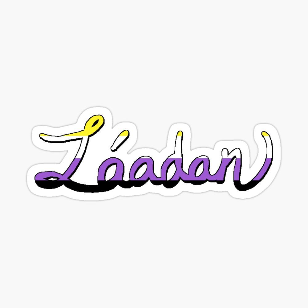 Láadan / Nonbinary flag mashup Sticker
