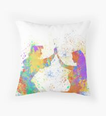 Listen with your Heart  Throw Pillow