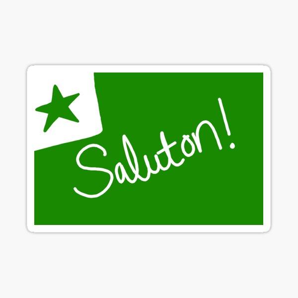 Saluton! - Esperanto postcard Sticker