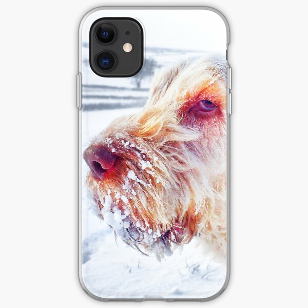 Windswept Italian Spinone in a Snowstorm iPhone Soft Case