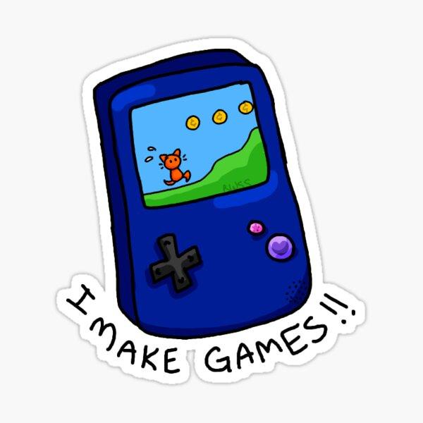 I make games! - Gamedev sticker Sticker