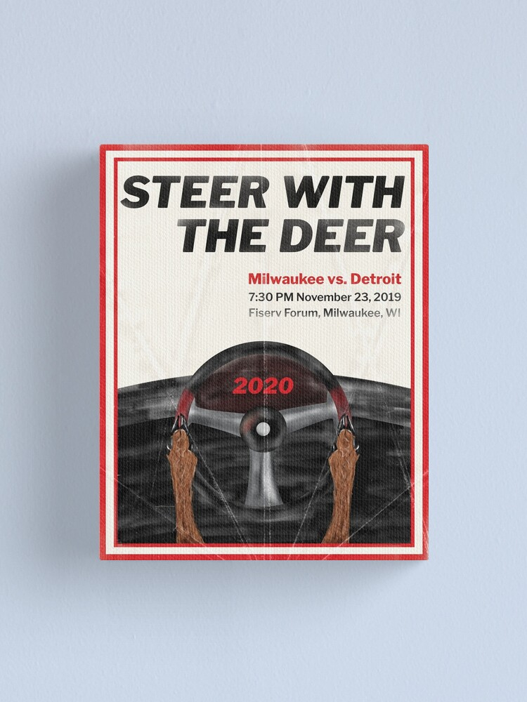 Alternate view of Steer with the Deer Canvas Print