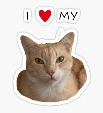 I love my cat Sticker