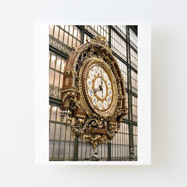 Musee d'Orsay Clock Canvas Mounted Print