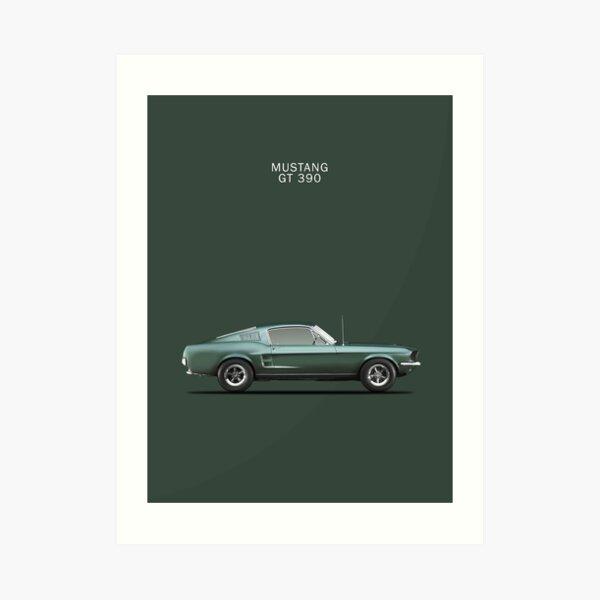 Bullitt Mustang 390GT Art Print