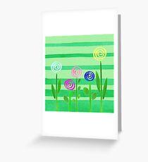 Lollipop Summer Garden Greeting Card