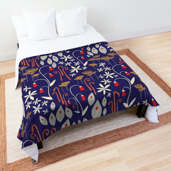 Bells and Blues Comforter