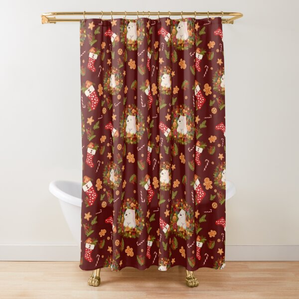 Icy Christmas Shower Curtain