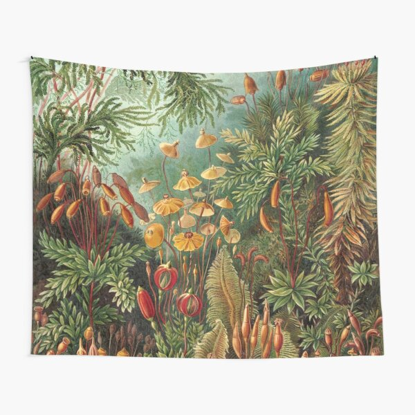 Vintage Plants Decorative Nature Painting Illustration Artwork Tapestry