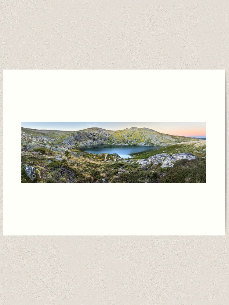Alternate view of Blue Lake, Kosciusko National Park, Australia  Art Print