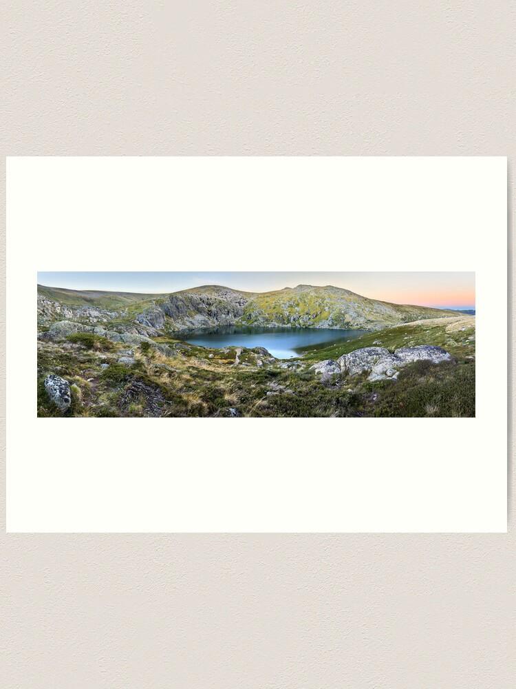 Alternate view of Blue Lake, Kosciusko National Park, Australia  Art Print