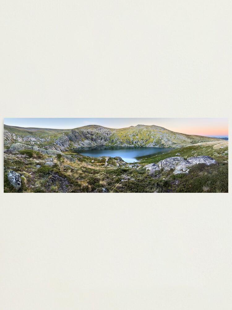 Alternate view of Blue Lake, Kosciusko National Park, Australia  Photographic Print