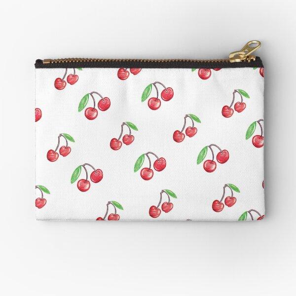 Cherries - hand drawn Zipper Pouch