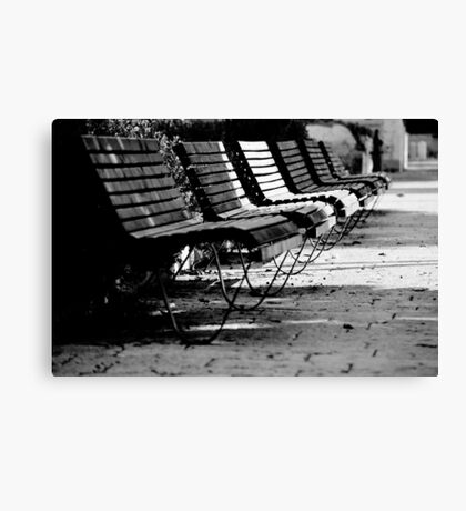 benches in row Canvas Print
