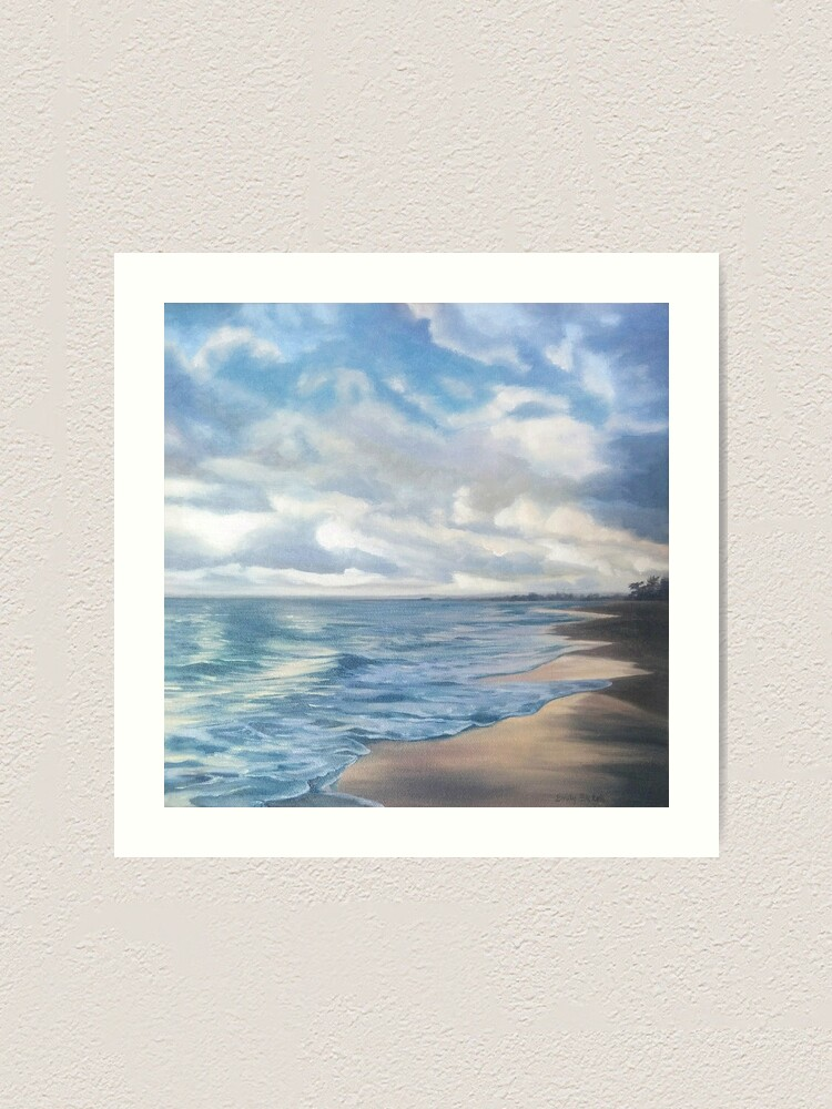 Alternate view of Sunrise on Playa Dorada - beach landscape painting Art Print