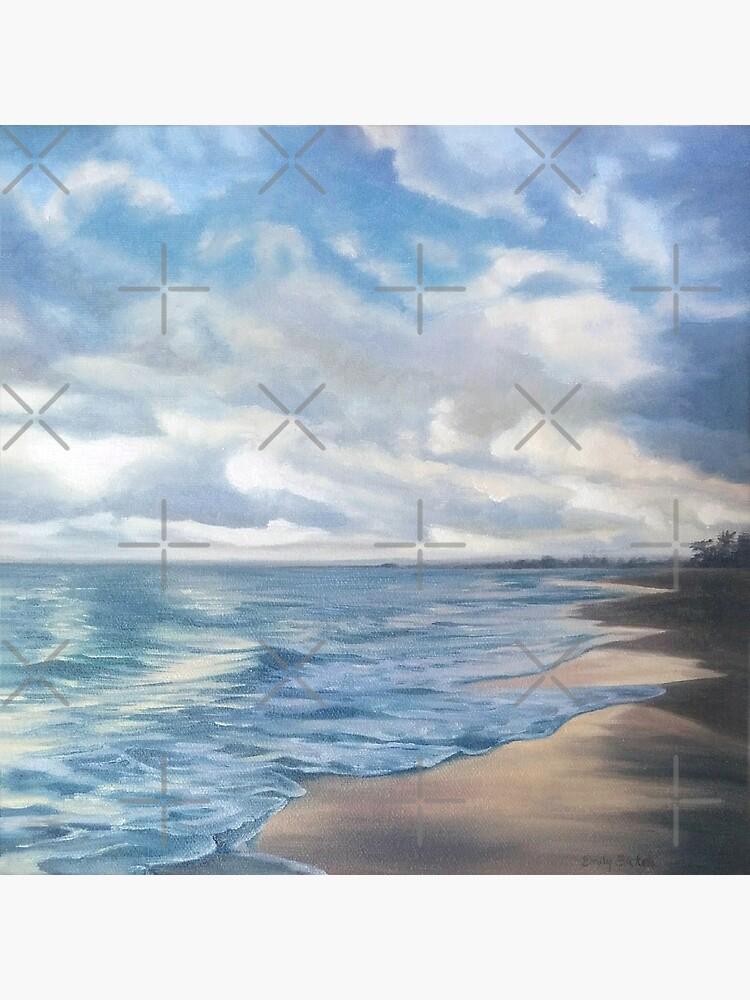 Sunrise on Playa Dorada - beach landscape painting by EmilyBickell