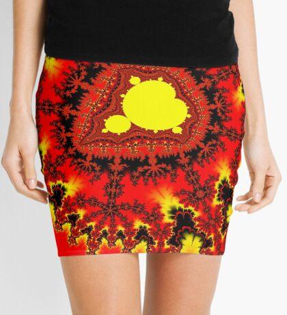Yellow Mandelbrot Mini Skirt