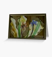 Pacific Kelp and Native Orchids Greeting Card