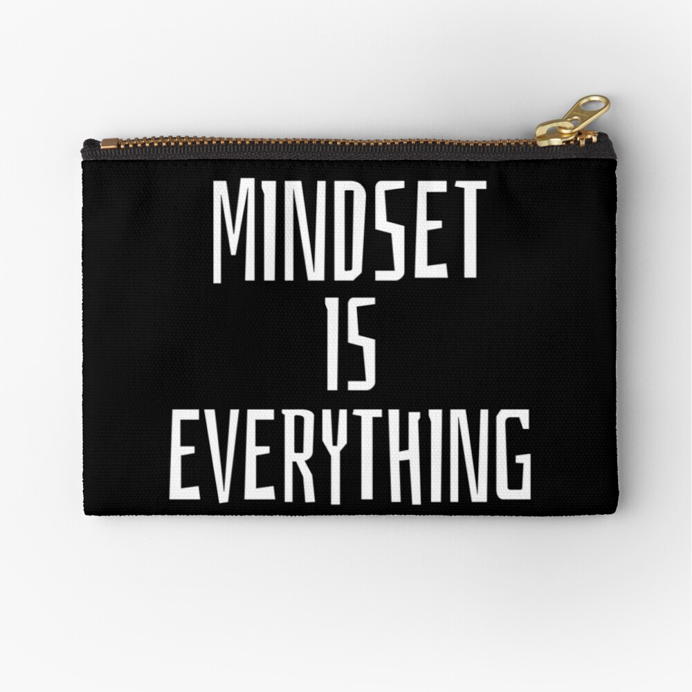 Mindset Inspirational Quote Zipper Pouch