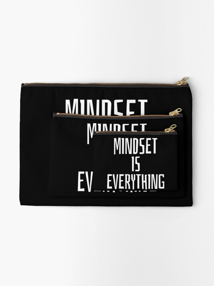 Alternate view of Mindset Inspirational Quote Zipper Pouch