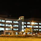 Caroline Chisholm Centre (by night) by buildings