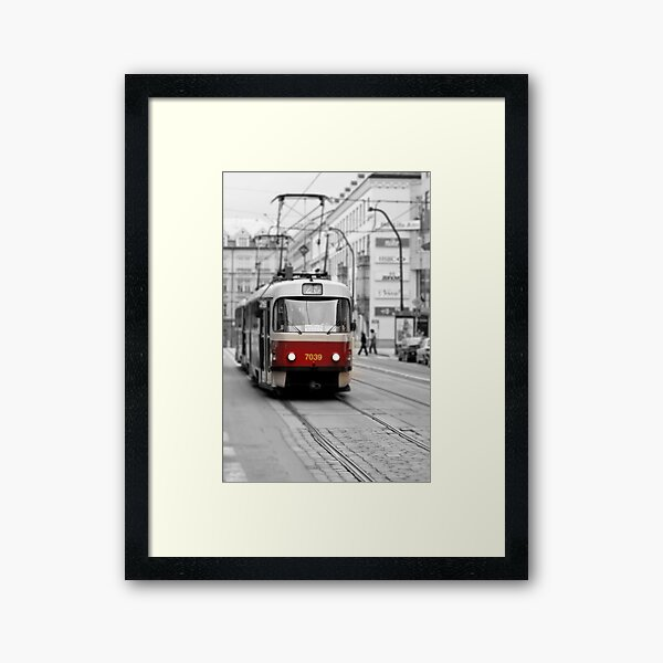 Prague Tram Framed Art Print