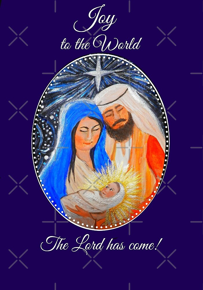 Nativity Christmas card, Nativity Christmas gifts and accessories by MagentaRose