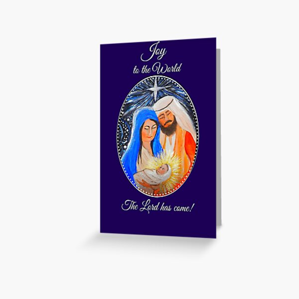 Nativity Christmas card, Nativity Christmas gifts and accessories Greeting Card