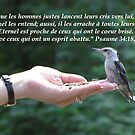 Ps. 34:18, 19 french inspirational card, gifts, and apparel by hummingbirds