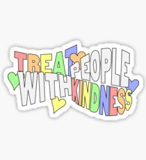 Treat People With Kindness Rainbow Sticker